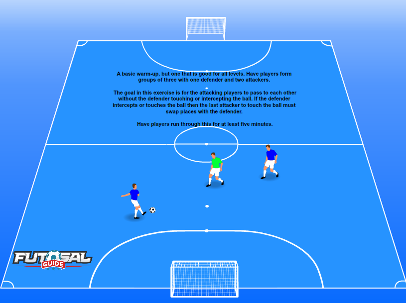 9f341491d Piggy In the Middle Futsal Warm Up Drills. A basic ...